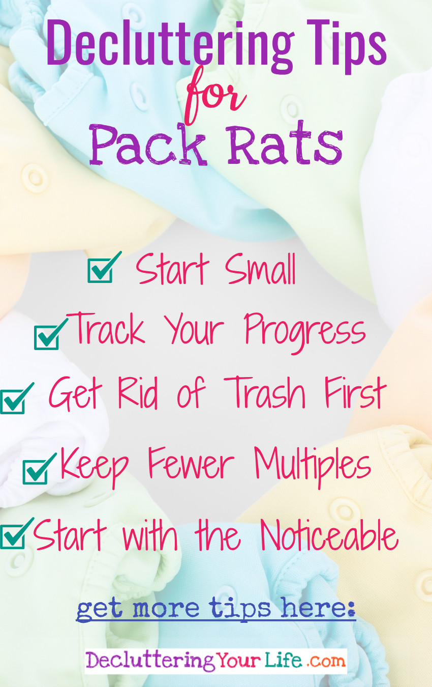 Simple clutter solutions and decluttering tips for self-proclaimed Pack Rats.  YES! You can be neat, organized and clutter-free too!