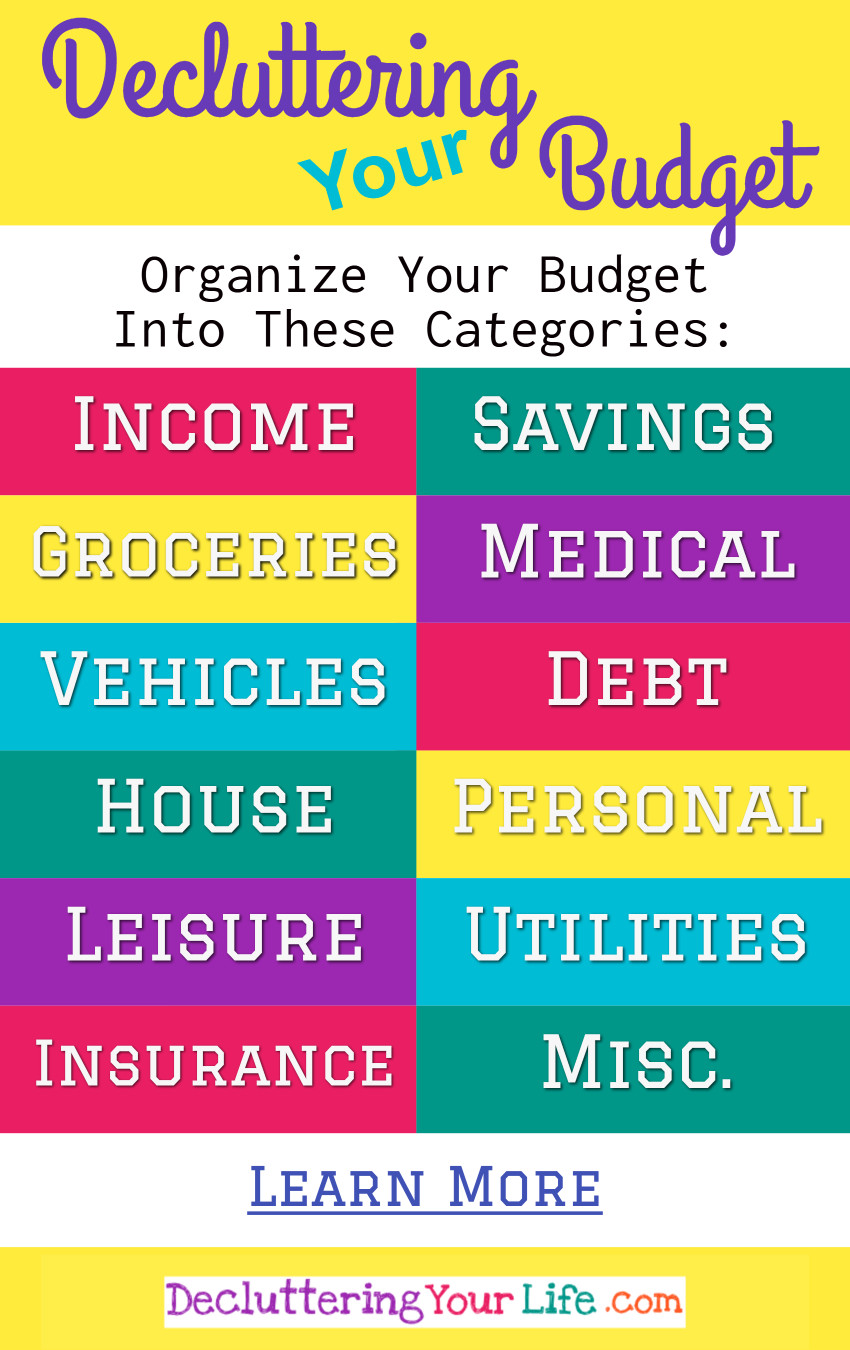How To Declutter Your Budget - Simple Tips to help you gain control of your finances and spending to figure out WHERE your money goes every month.