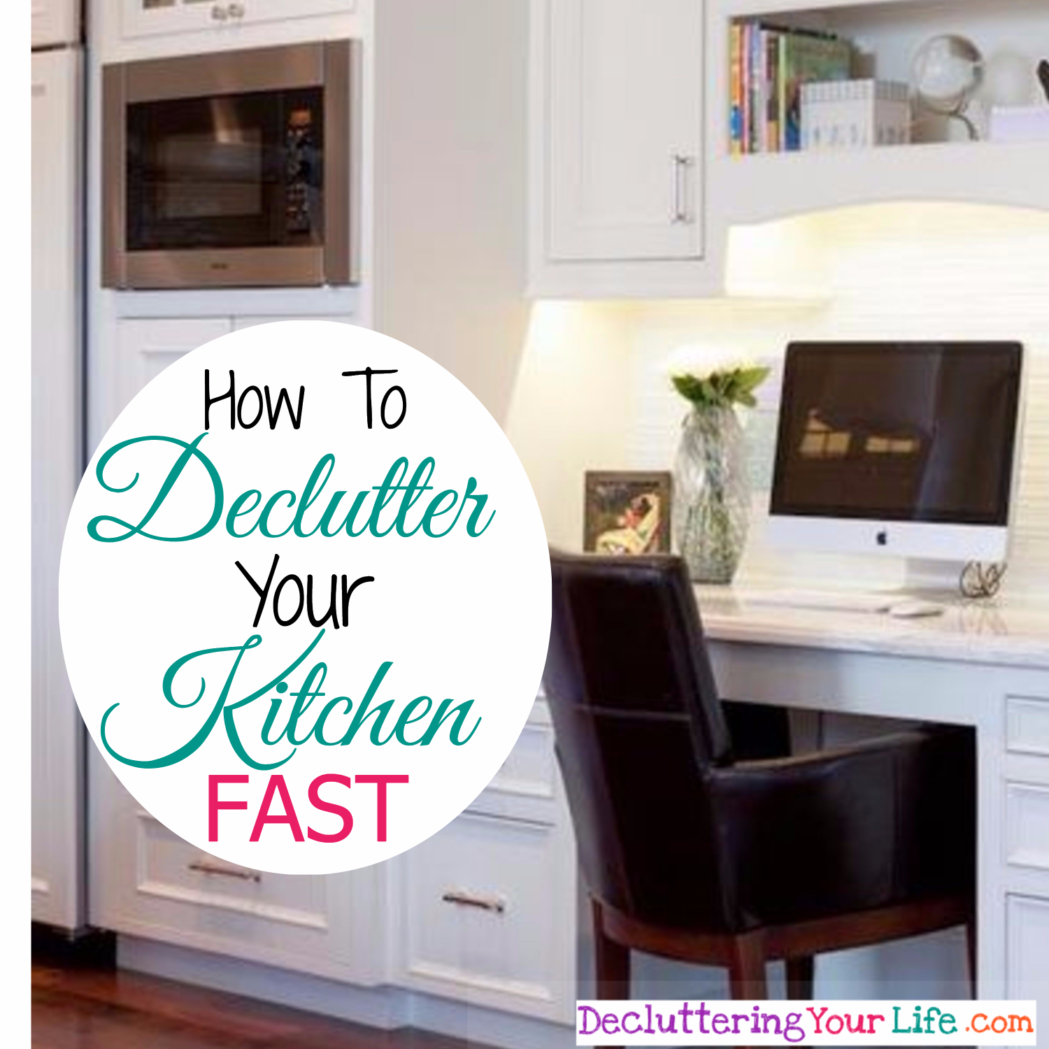 Declutter your kitchen - how to declutter your kitchen FAST with this simple one-day (or less) declutter method.