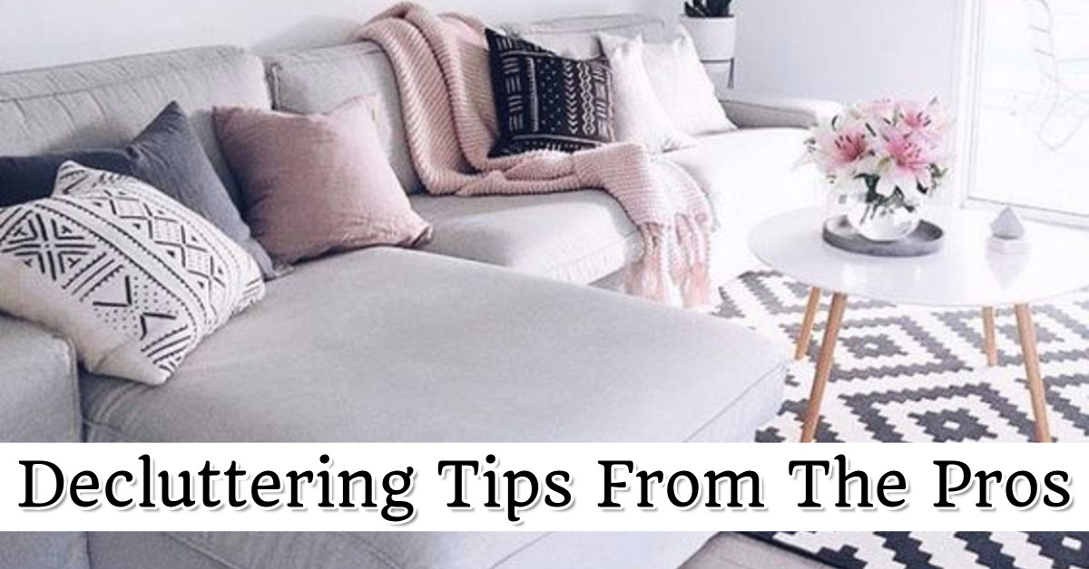 Decluttering tips from professional organizers