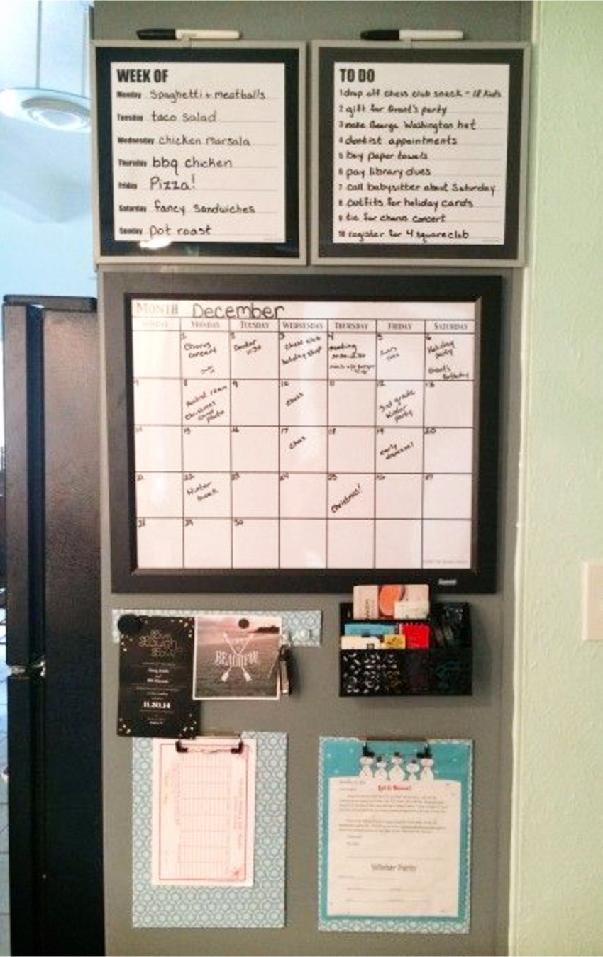 DIY family command center ideas and inspiration for a family organization station