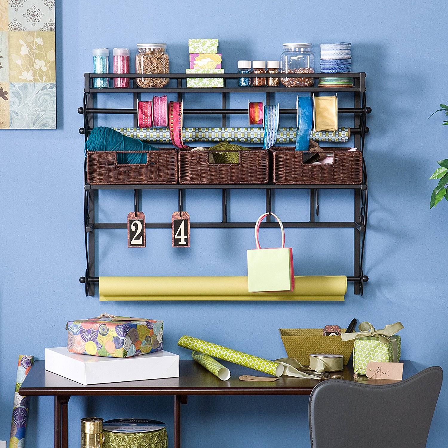 Beautiful way to organize the craftroom - perfect for my wall