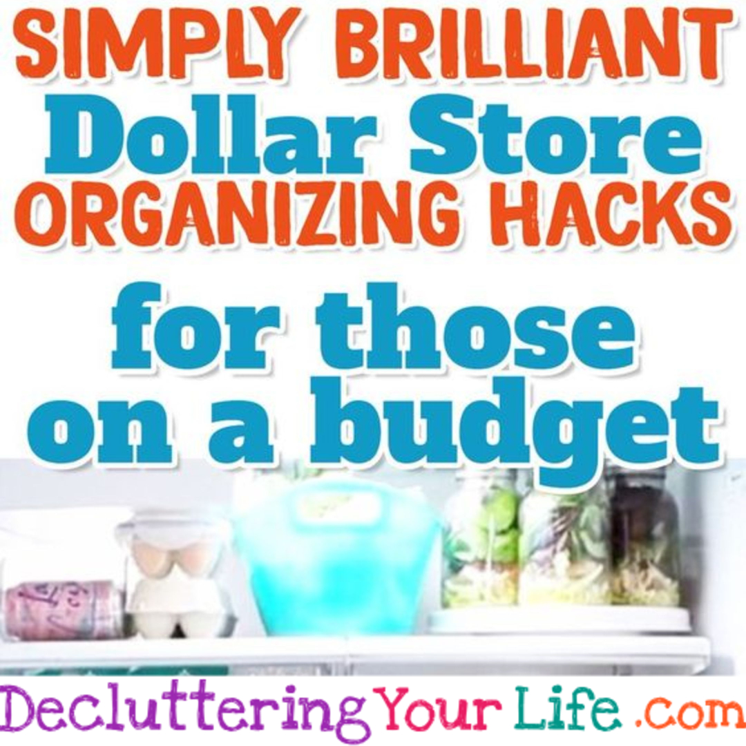 Dollar Store Organizing Hacks for those on a budget - works for Dollar General & Dollar Tree too