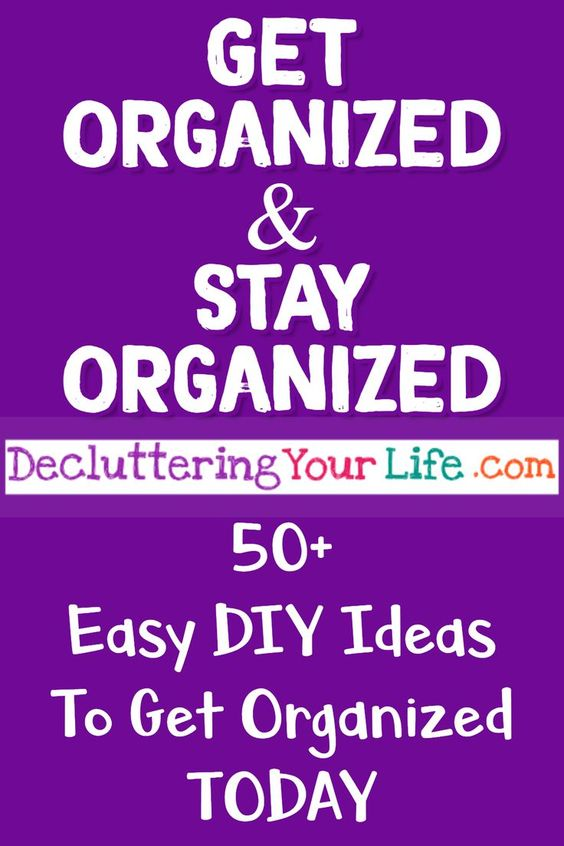 Getting organized at home - let's get organized at home WITHOUT feeling overwhelmed! Best organizing ideas on Pinterest! Get organized!  style=