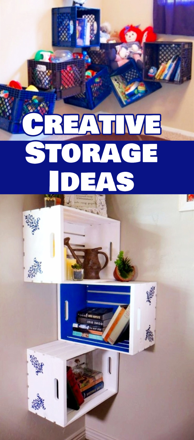 creative storage solutions for small spaces - declutteringyourlife Creative Nightstands for Small Spaces
