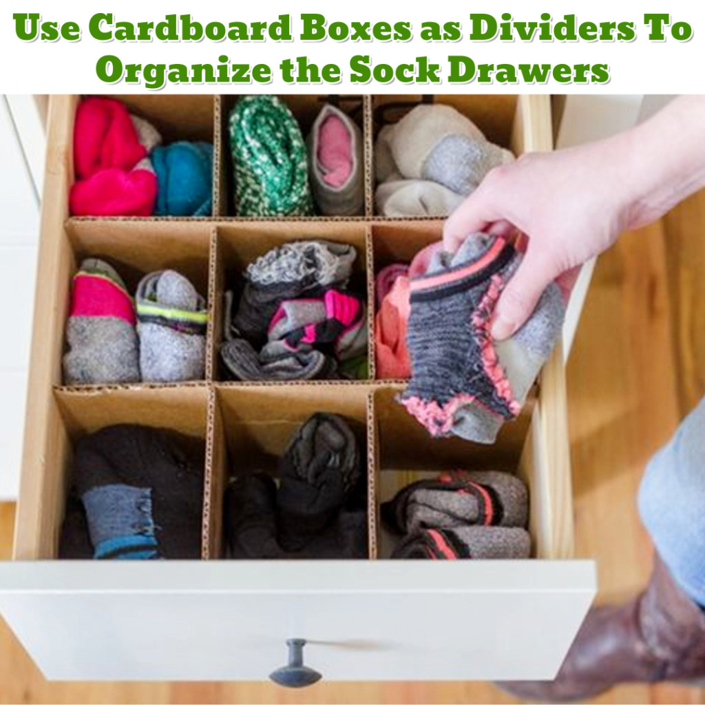 Sock drawer organization hack - Getting Organized - 50+ Easy DIY organization Ideas To Help Get Organized #getorganized #gettingorganized #organizationideasforthehome #diyhomedecor #organizingideas #cleaninghacks #lifehacks #diyideas