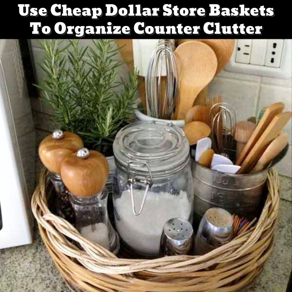 Kitichen counter organization ideas - organizing clutter in the kitchen - Getting Organized - 50+ Easy DIY organization Ideas To Help Get Organized #getorganized #gettingorganized #organizationideasforthehome #diyhomedecor #organizingideas #cleaninghacks #lifehacks #diyideas