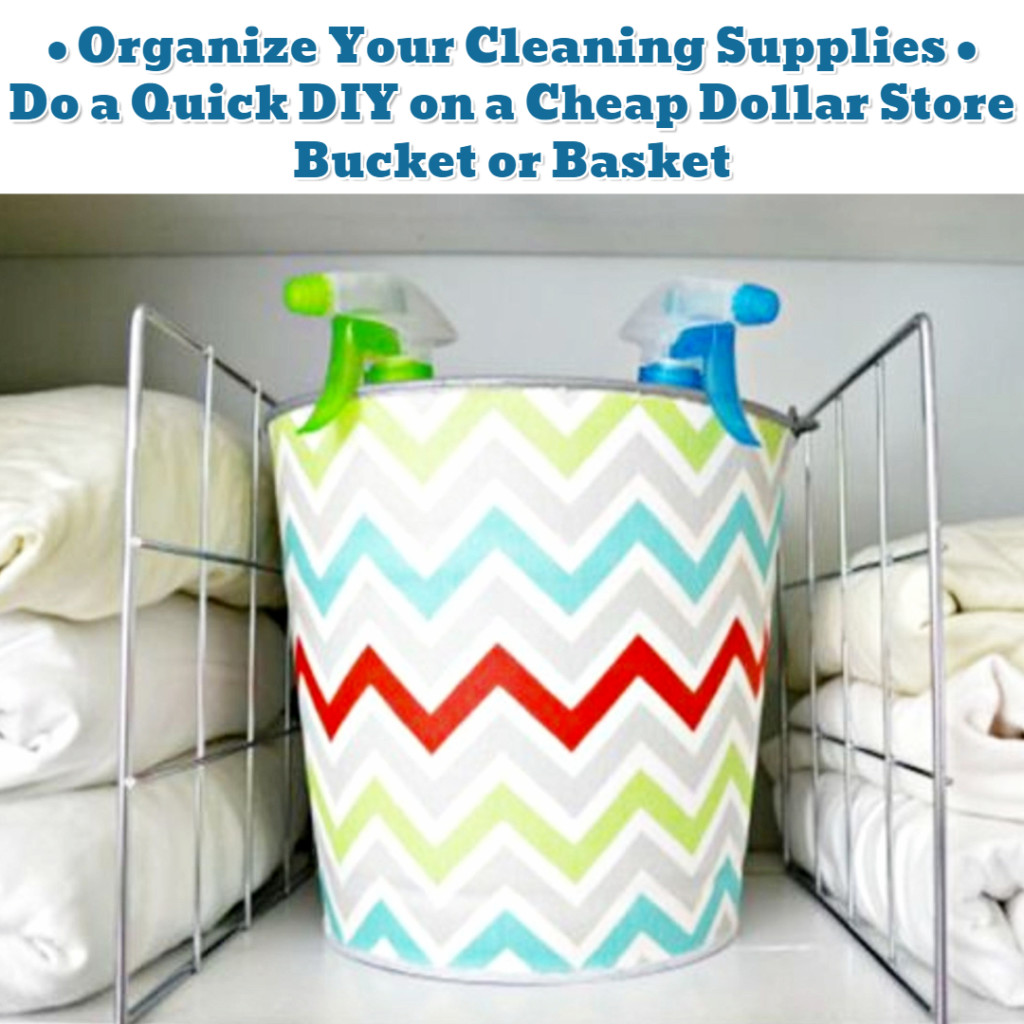 Cleaning Supplies Organization Ideas - Getting Organized - 50+ Easy DIY organization Ideas To Help Get Organized #getorganized #gettingorganized #organizationideasforthehome #diyhomedecor #organizingideas #cleaninghacks #lifehacks #diyideas