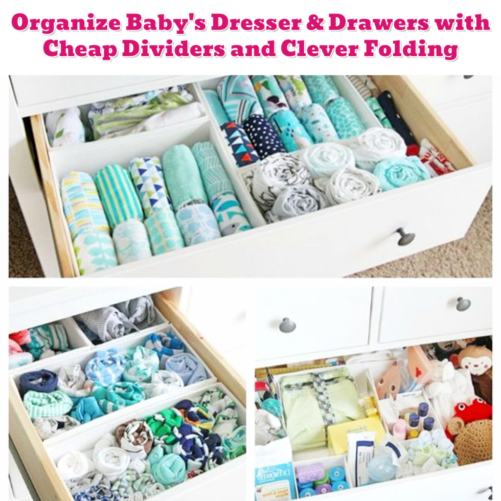 Nursery organization ideas - organize baby clothese - Getting Organized - 50+ Easy DIY organization Ideas To Help Get Organized #getorganized #gettingorganized #organizationideasforthehome #diyhomedecor #organizingideas #cleaninghacks #lifehacks #diyideas