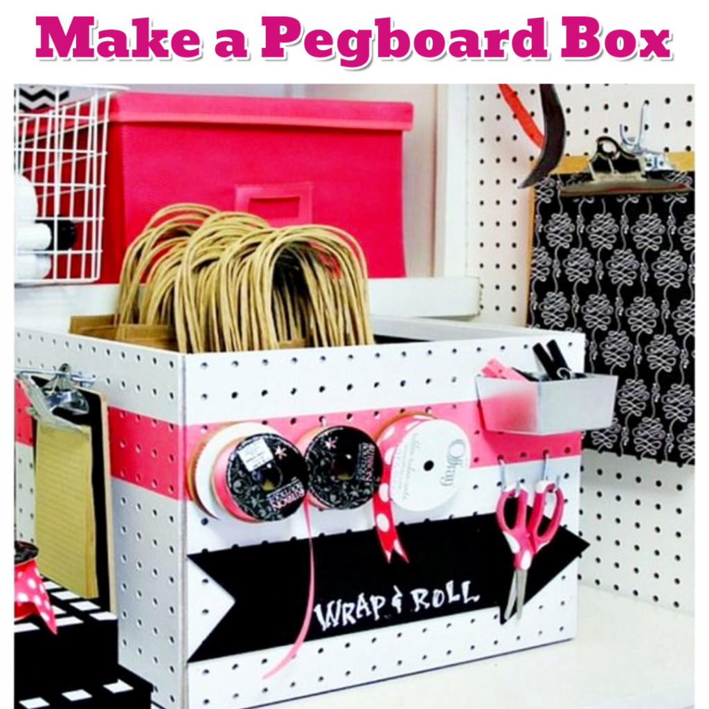 Craft Supplies Organization ideas - DIY Pegboard Box - Getting Organized - 50+ Easy DIY organization Ideas To Help Get Organized #getorganized #gettingorganized #organizationideasforthehome #diyhomedecor #organizingideas #cleaninghacks #lifehacks #diyideas