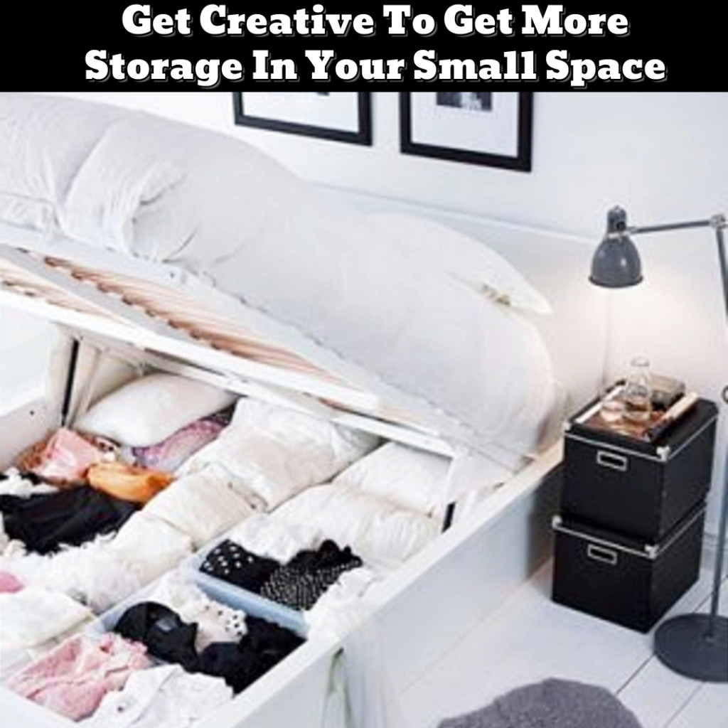 Small Space Storage Hacks - Bedroom Organization ideas - Getting Organized - 50+ Easy DIY organization Ideas To Help Get Organized #getorganized #gettingorganized #organizationideasforthehome #diyhomedecor #organizingideas #cleaninghacks #lifehacks #diyideas
