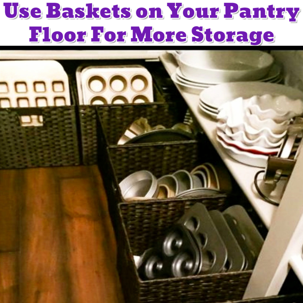 Pantry organization idea to get more space in your pantry - Getting Organized - 50+ Easy DIY organization Ideas To Help Get Organized #getorganized #gettingorganized #organizationideasforthehome #diyhomedecor #organizingideas #cleaninghacks #lifehacks #diyideas