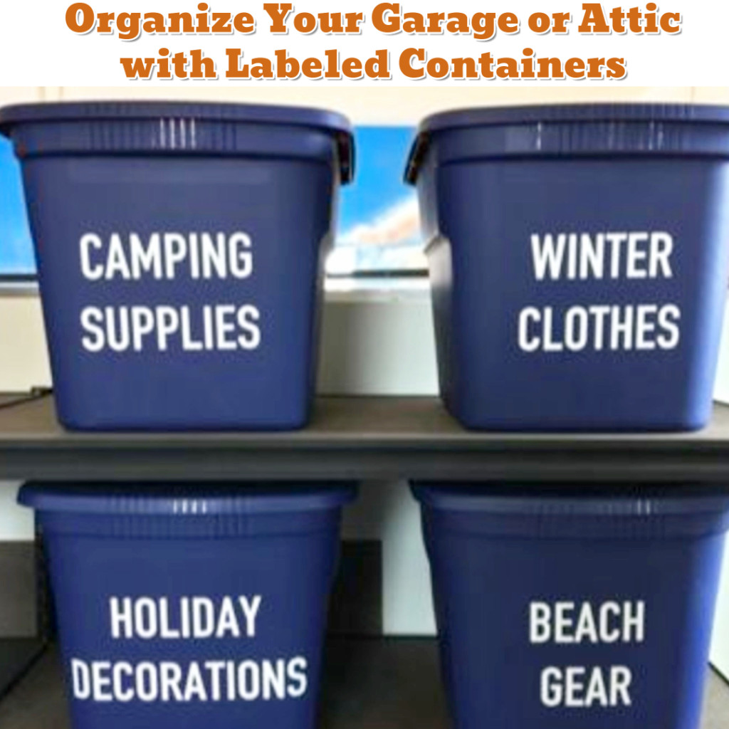 Garage or Attic DIY Organization Ideas - Getting Organized - 50+ Easy DIY organization Ideas To Help Get Organized #getorganized #gettingorganized #organizationideasforthehome #diyhomedecor #organizingideas #cleaninghacks #lifehacks #diyideas