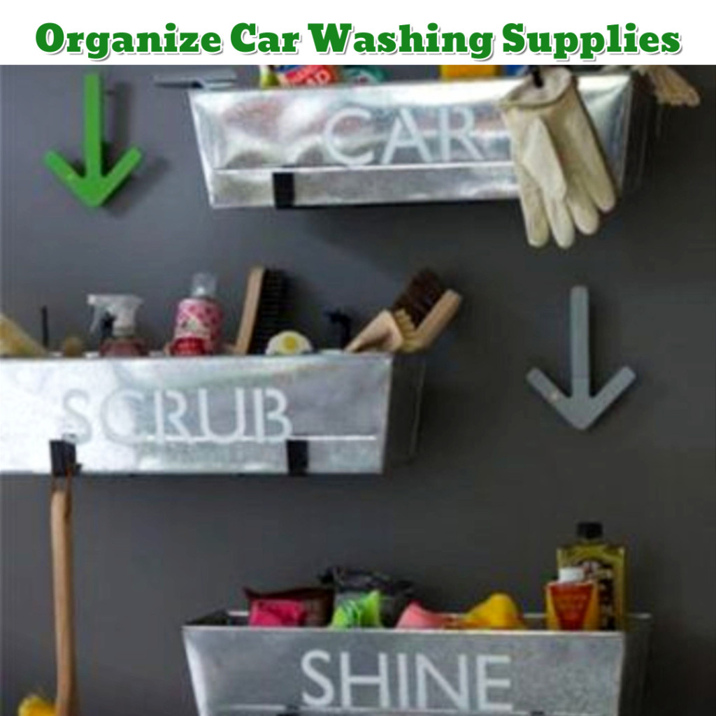 Garage Organization hack - Organize Car Supplies - Getting Organized - 50+ Easy DIY organization Ideas To Help Get Organized #getorganized #gettingorganized #organizationideasforthehome #diyhomedecor #organizingideas #cleaninghacks #lifehacks #diyideas