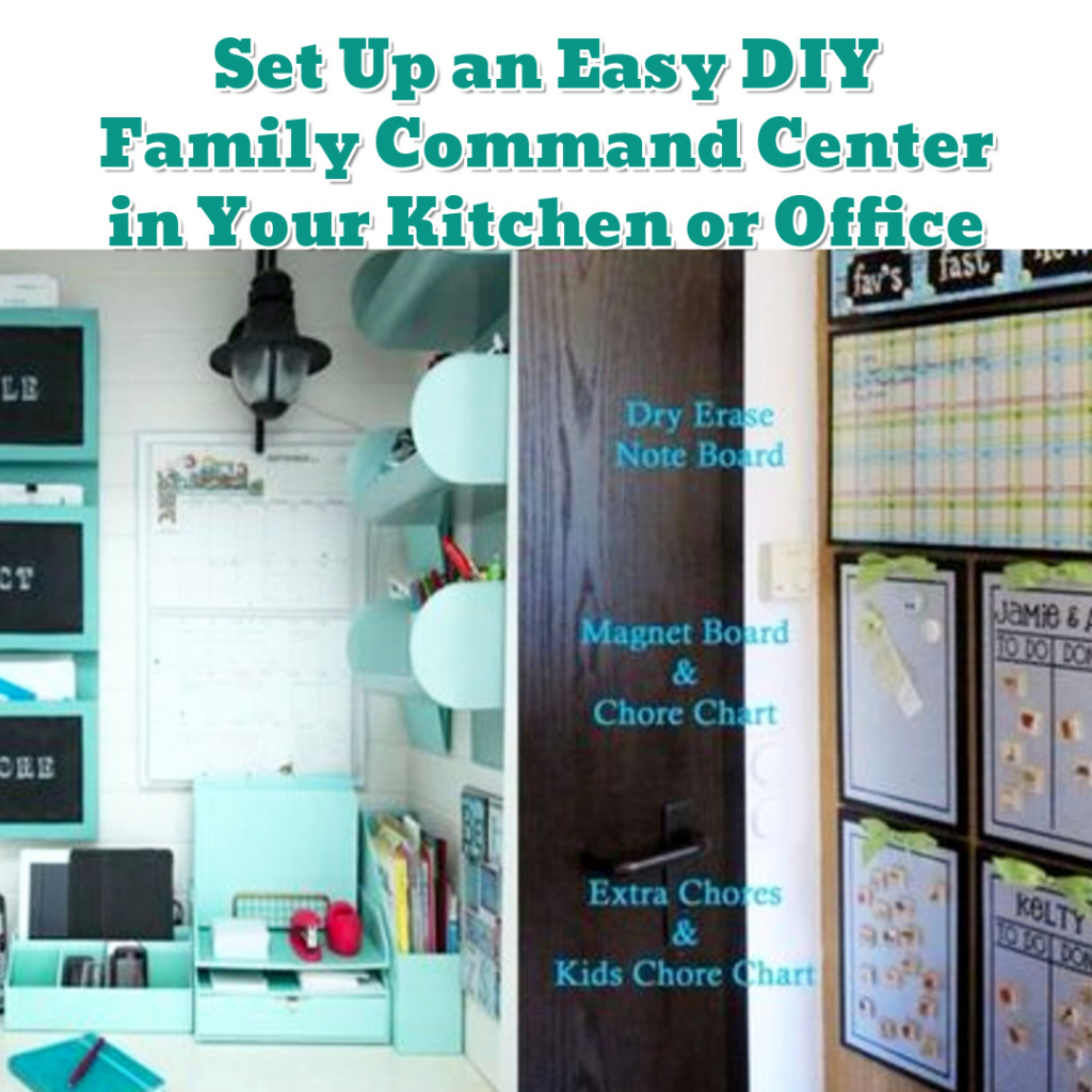 Family schedule organization ideas - DIY command center - Getting Organized - 50+ Easy DIY organization Ideas To Help Get Organized #getorganized #gettingorganized #organizationideasforthehome #diyhomedecor #organizingideas #cleaninghacks #lifehacks #diyideas
