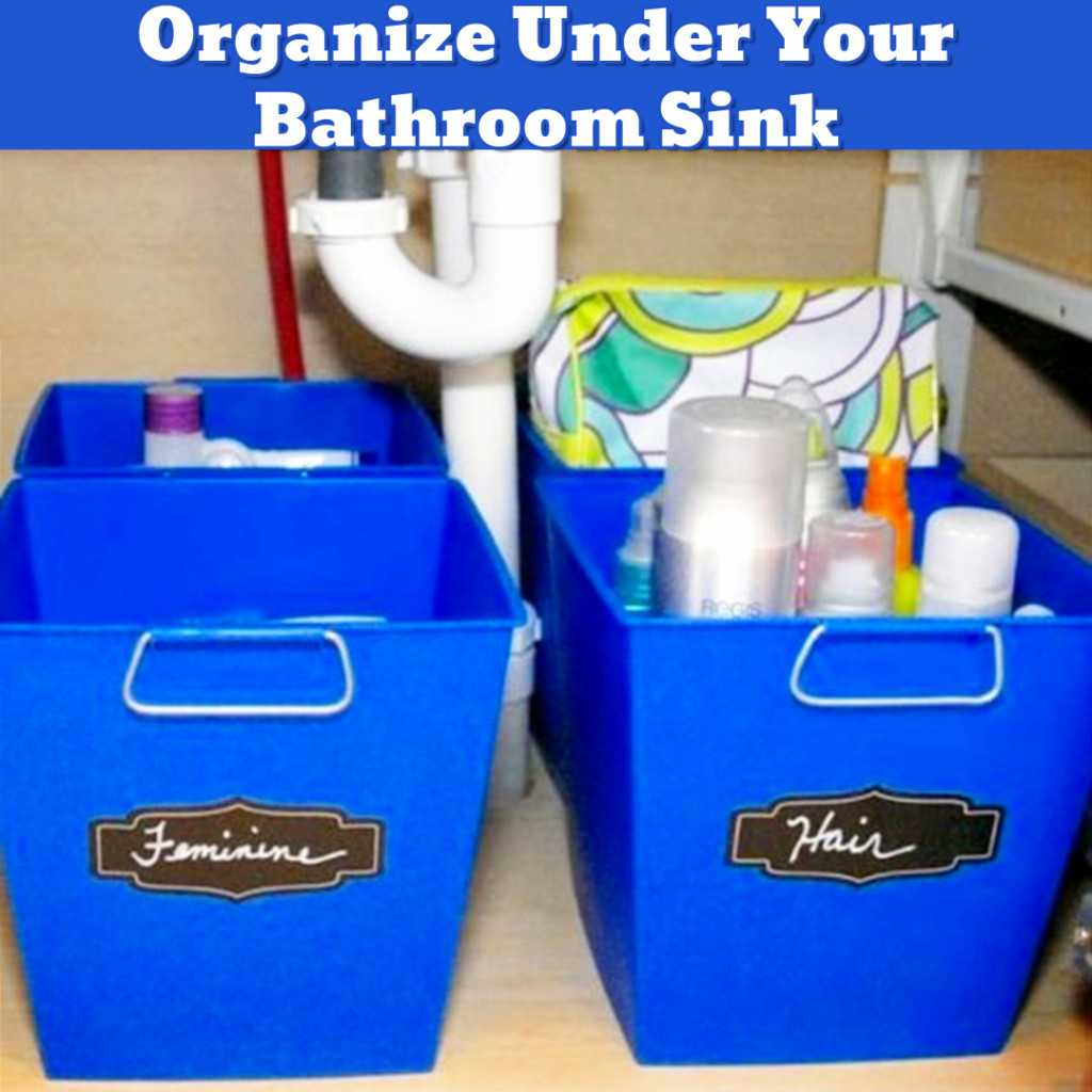 Organize Under Bathroom Sink - DIY bathroom organization ideas - Getting Organized - 50+ Easy DIY organization Ideas To Help Get Organized #getorganized #gettingorganized #organizationideasforthehome #diyhomedecor #organizingideas #cleaninghacks #lifehacks #diyideas