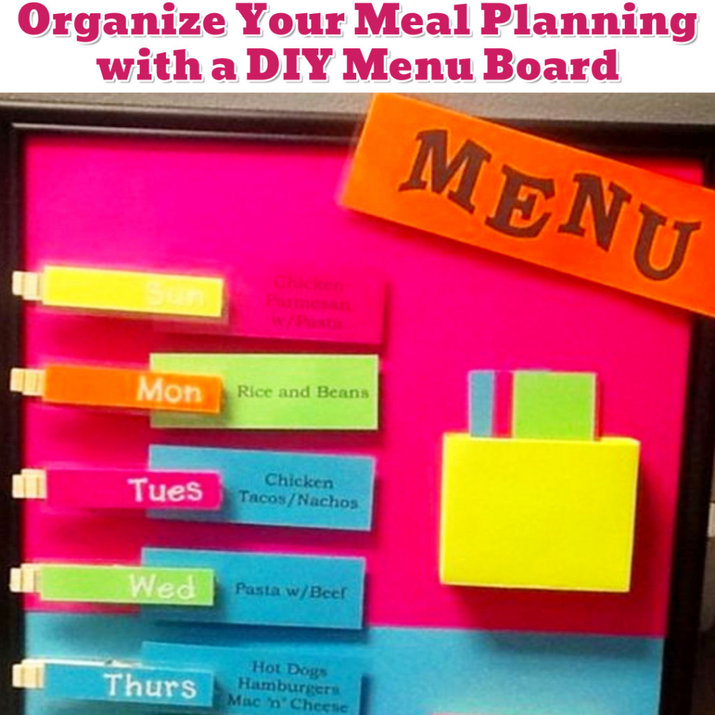 Weekly Meal Planning Organization idea - Getting Organized - 50+ Easy DIY organization Ideas To Help Get Organized #getorganized #gettingorganized #organizationideasforthehome #diyhomedecor #organizingideas #cleaninghacks #lifehacks #diyideas