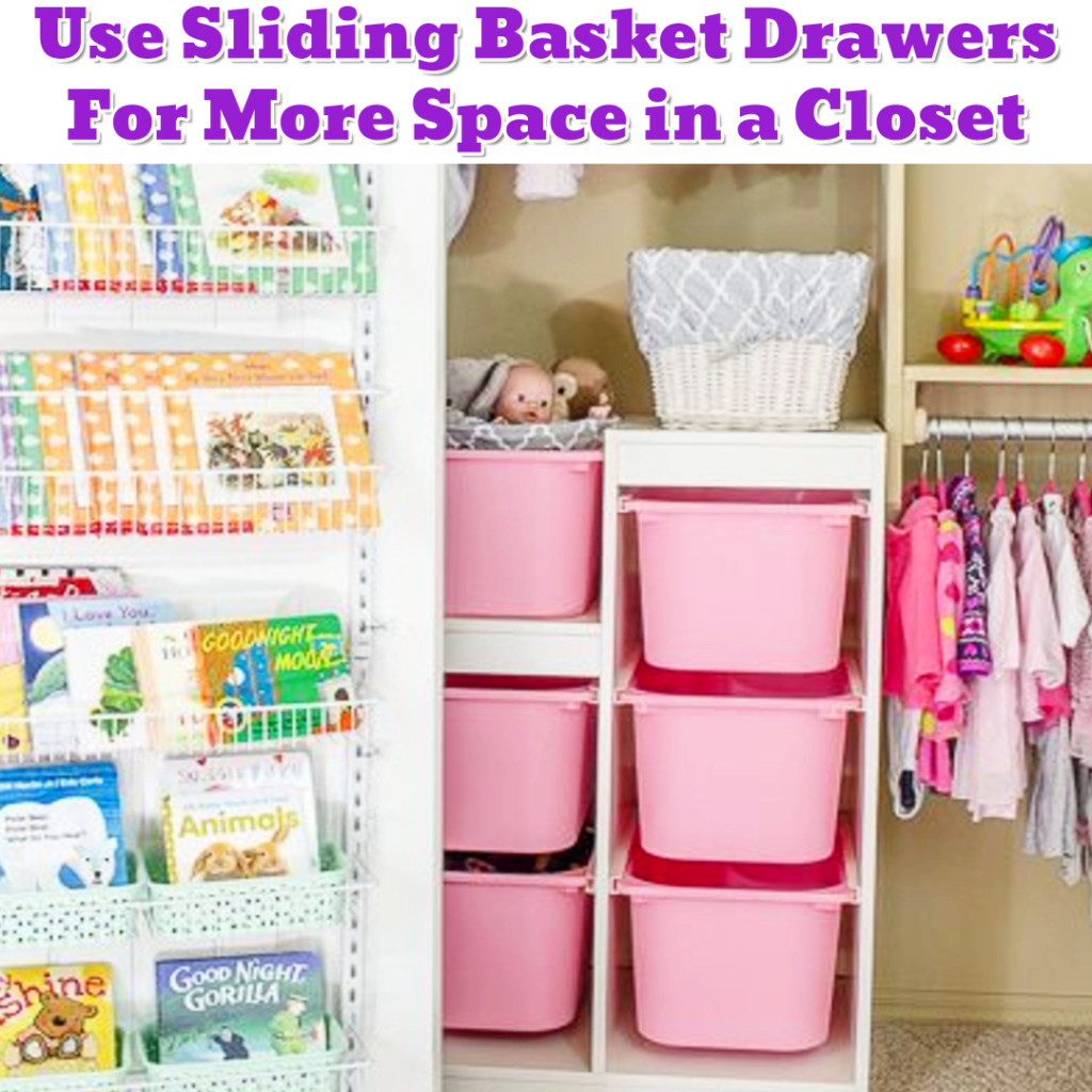 Baby closet organization idea for small nursery closet - Getting Organized - 50+ Easy DIY organization Ideas To Help Get Organized #getorganized #gettingorganized #organizationideasforthehome #diyhomedecor #organizingideas #cleaninghacks #lifehacks #diyideas
