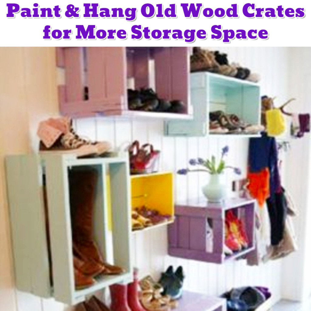 DIY wooden crate shelves - Getting Organized - 50+ Easy DIY organization Ideas To Help Get Organized #getorganized #gettingorganized #organizationideasforthehome #diyhomedecor #organizingideas #cleaninghacks #lifehacks #diyideas