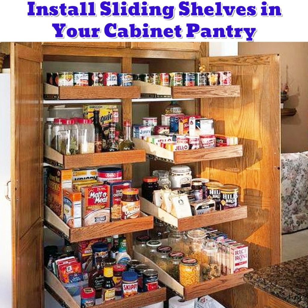 Small cabinet pantry organization ideas - DIY pantry shelves - Getting Organized - 50+ Easy DIY organization Ideas To Help Get Organized #getorganized #gettingorganized #organizationideasforthehome #diyhomedecor #organizingideas #cleaninghacks #lifehacks #diyideas