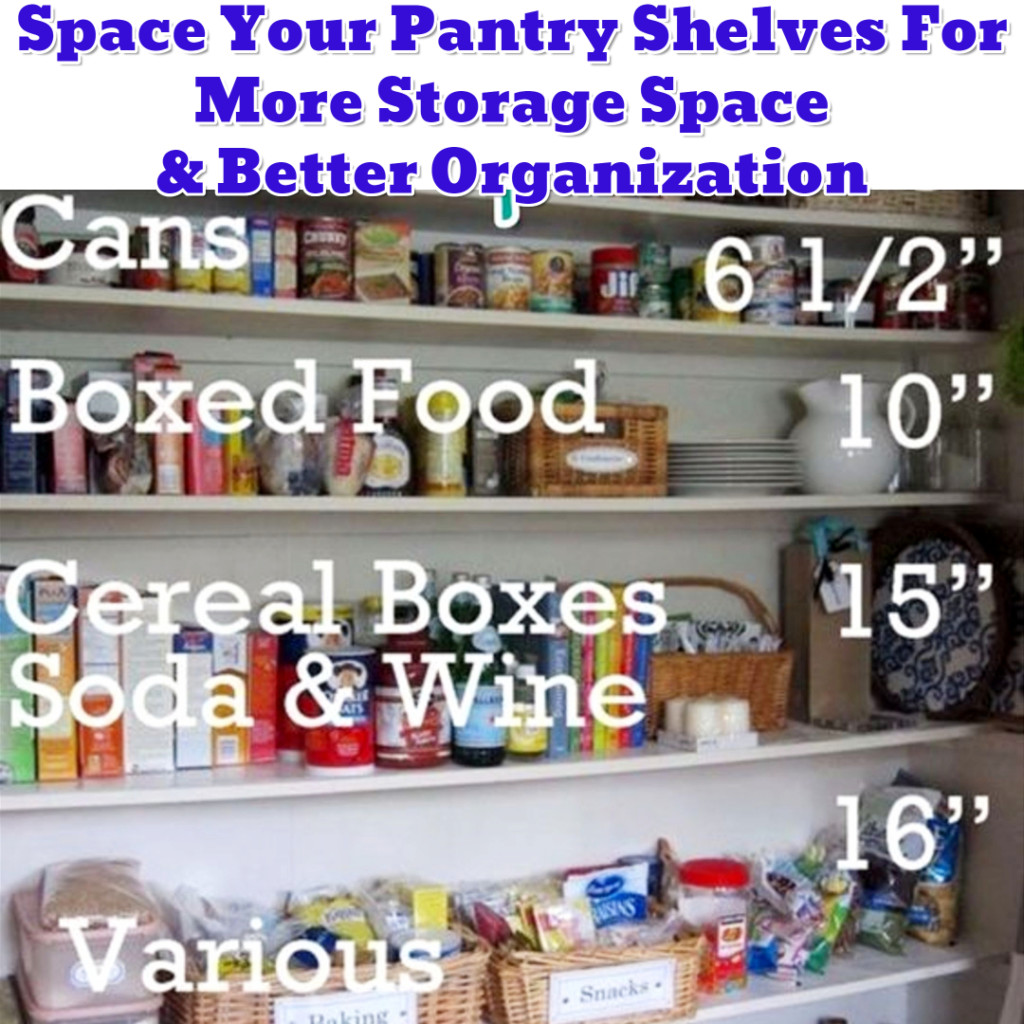 Pantry organization hack - space between pantry shelves - Getting Organized - 50+ Easy DIY organization Ideas To Help Get Organized #getorganized #gettingorganized #organizationideasforthehome #diyhomedecor #organizingideas #cleaninghacks #lifehacks #diyideas
