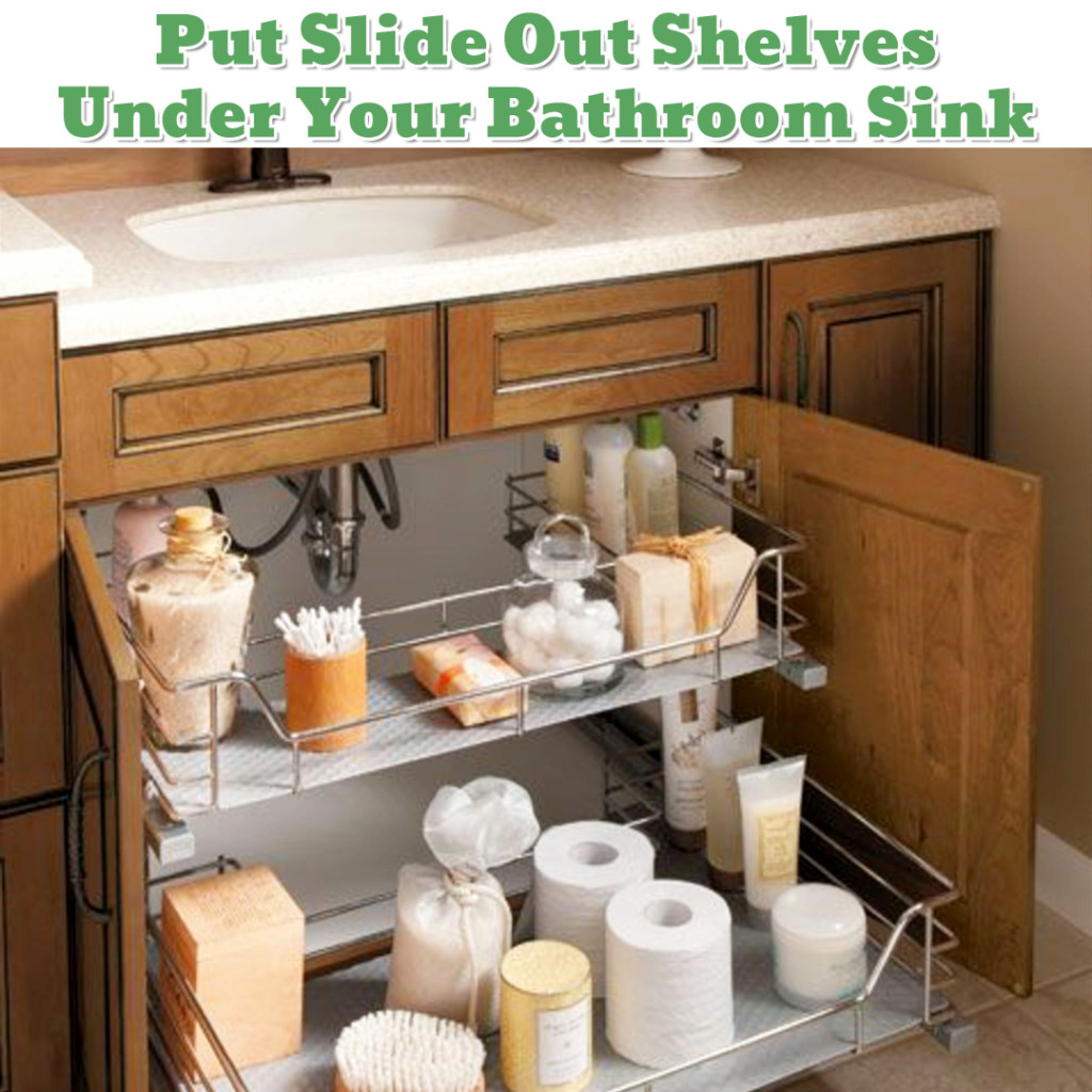 Under sink in bathroom organizing idea - Getting Organized - 50+ Easy DIY organization Ideas To Help Get Organized #getorganized #gettingorganized #organizationideasforthehome #diyhomedecor #organizingideas #cleaninghacks #lifehacks #diyideas