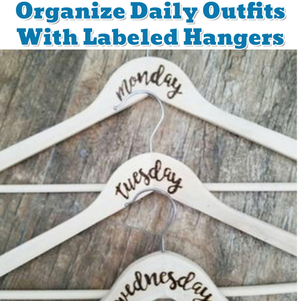 Daily Outfit organization Hack - Getting Organized - 50+ Easy DIY organization Ideas To Help Get Organized #getorganized #gettingorganized #organizationideasforthehome #diyhomedecor #organizingideas #cleaninghacks #lifehacks #diyideas