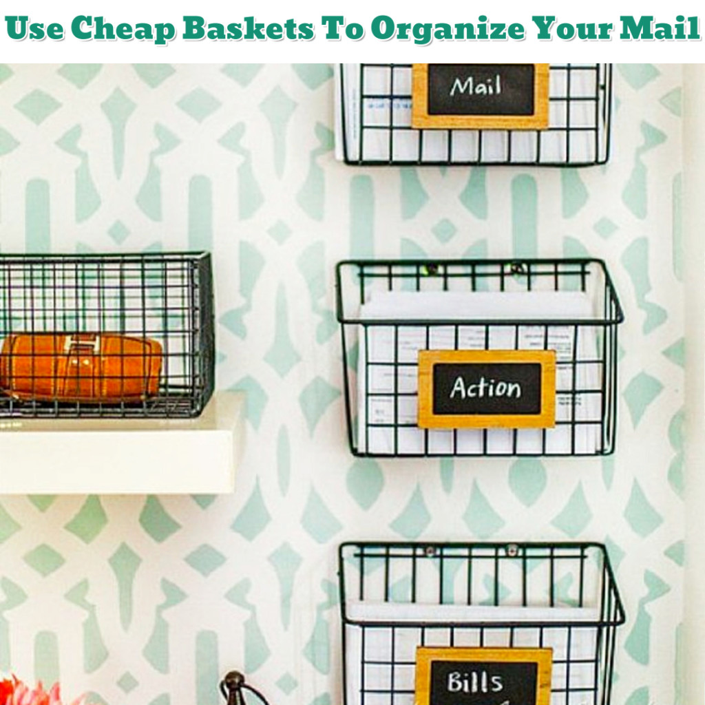 Home Office Organization - How To Organize Bills and Mail - Getting Organized - 50+ Easy DIY organization Ideas To Help Get Organized #getorganized #gettingorganized #organizationideasforthehome #diyhomedecor #organizingideas #cleaninghacks #lifehacks #diyideas