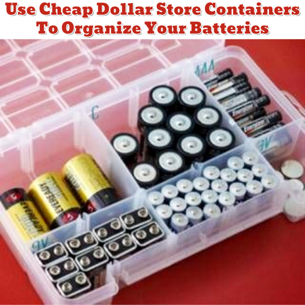 Junk Drawer Battery Organization - Getting Organized - 50+ Easy DIY organization Ideas To Help Get Organized #getorganized #gettingorganized #organizationideasforthehome #diyhomedecor #organizingideas #cleaninghacks #lifehacks #diyideas