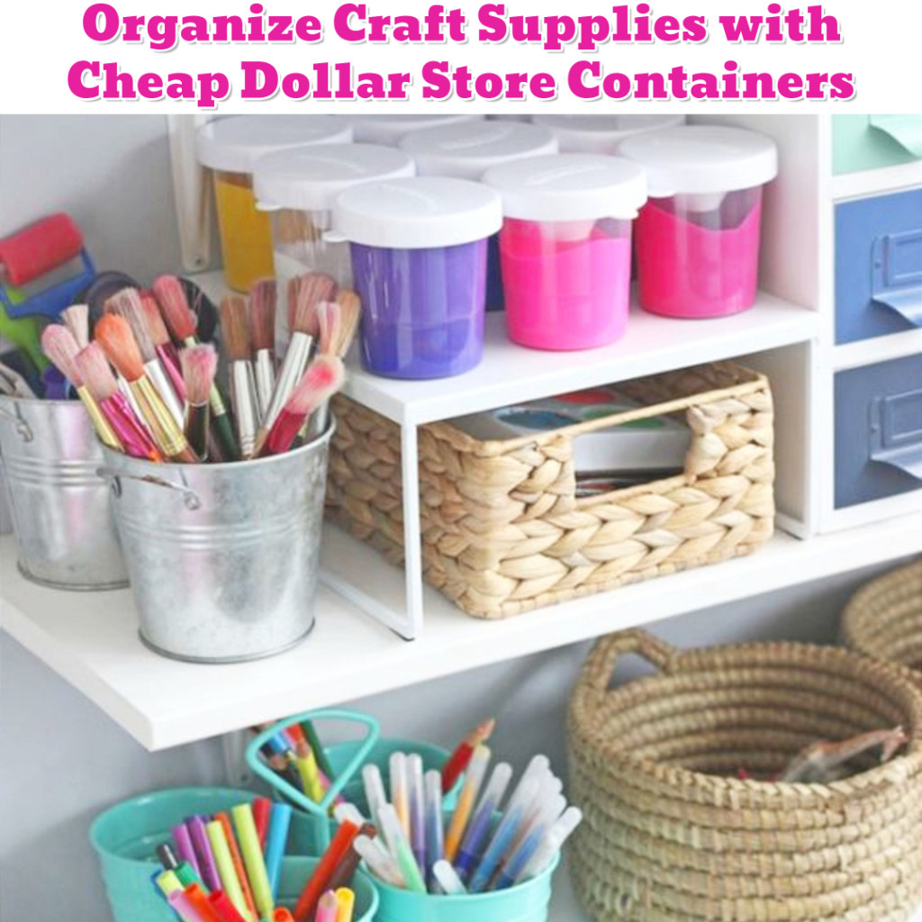 Organize Craft Supplies - DIY craft organization ideas - Getting Organized - 50+ Easy DIY organization Ideas To Help Get Organized #getorganized #gettingorganized #organizationideasforthehome #diyhomedecor #organizingideas #cleaninghacks #lifehacks #diyideas