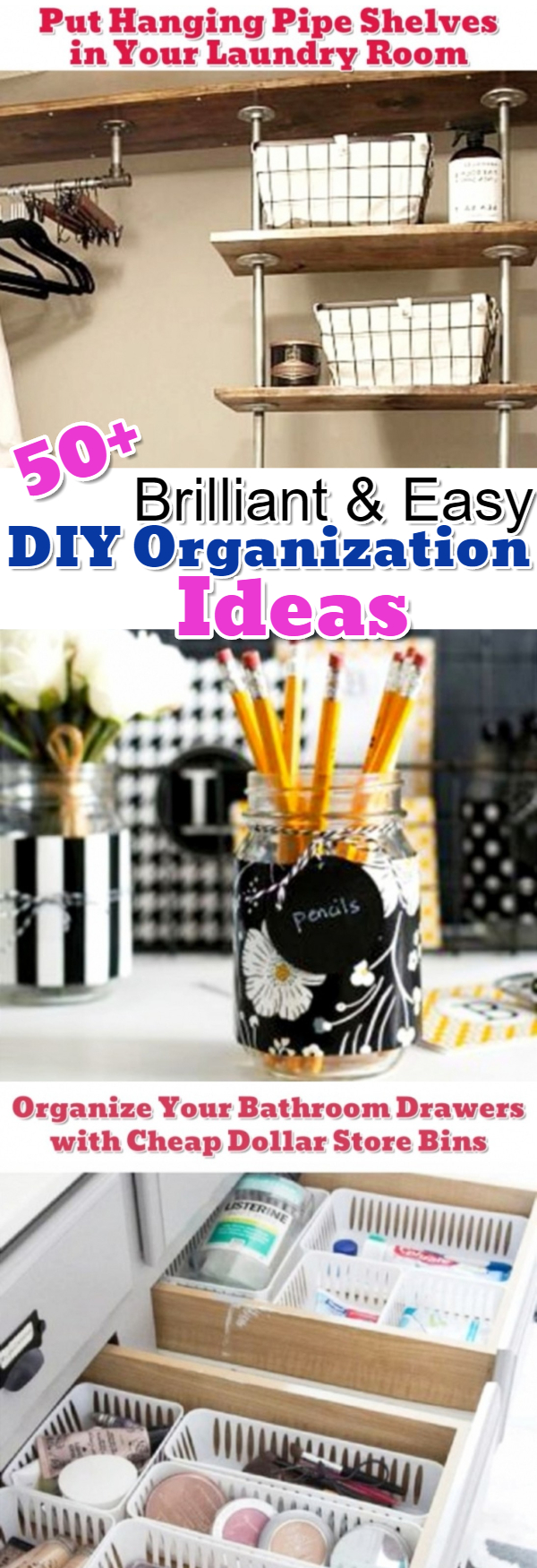 Some of the best getting organized help and DIY ideas I've seen on Pinterest Get organized!
