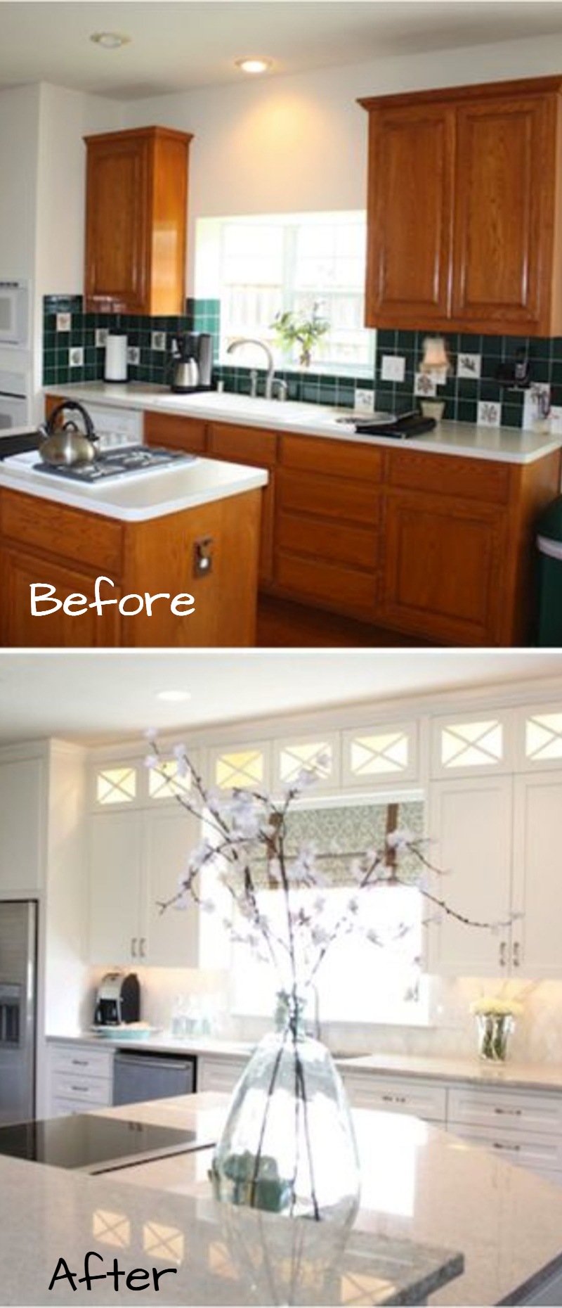 Small Kitchen Remodel Before And After Pictures Of Makeovers Kitchenideas Farmhousedecor