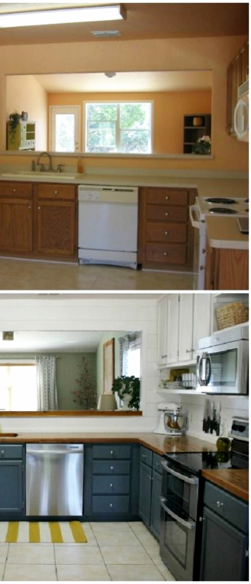 Small kitchen remodel - before and after pictures of small kitchen makeovers #kitchenideas #farmhousedecor #kitchendecor #kitchenremodel #diyhomedecor #homedecorideas #farmhousekitchen