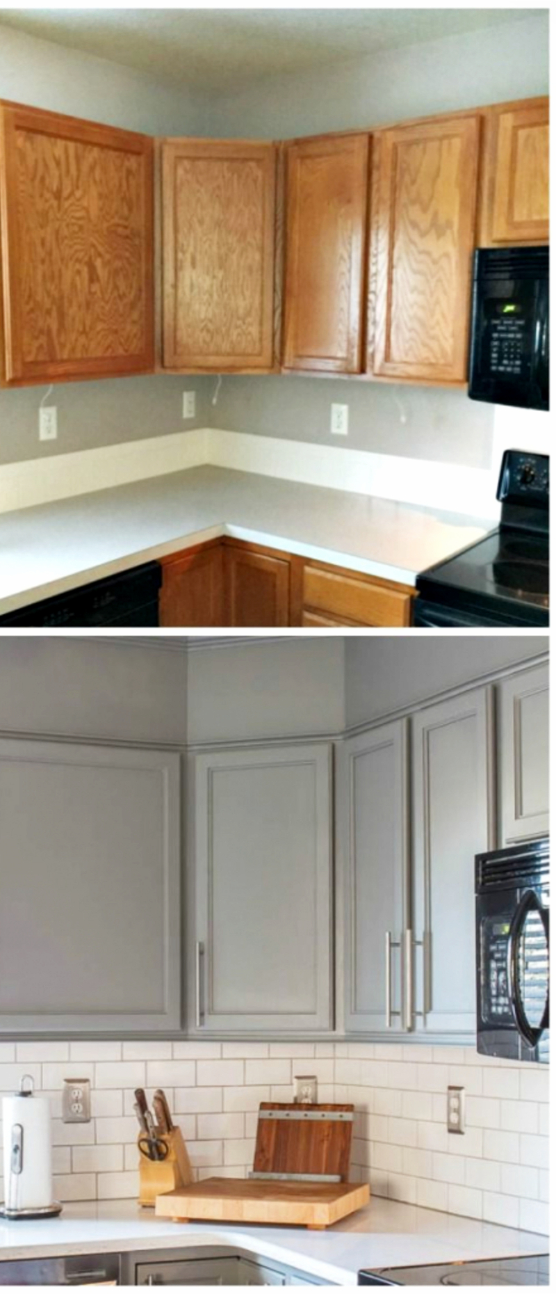 Small kitchen makeovers before and after - small kitchens remodel ideas and pictures #kitchenideas #farmhousedecor #kitchendecor #kitchenremodel #diyhomedecor #homedecorideas #farmhousekitchen
