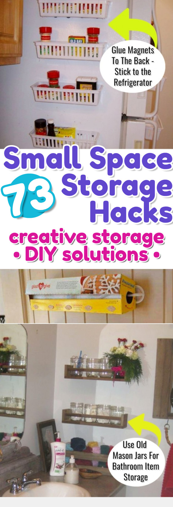 creative storage solutions for small spaces - declutteringyourlife Narrow Space Storage Solutions