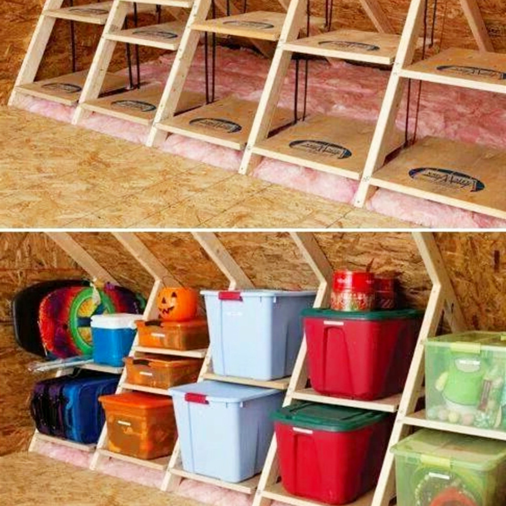 DIY storage ideas for small spaces #organizationideasforthehome #getorganized #homeorganizationideas #lifehacks #storagesolutions #organizationideas #gettingorganized #diystorageideas #organizingtips #atticorganization