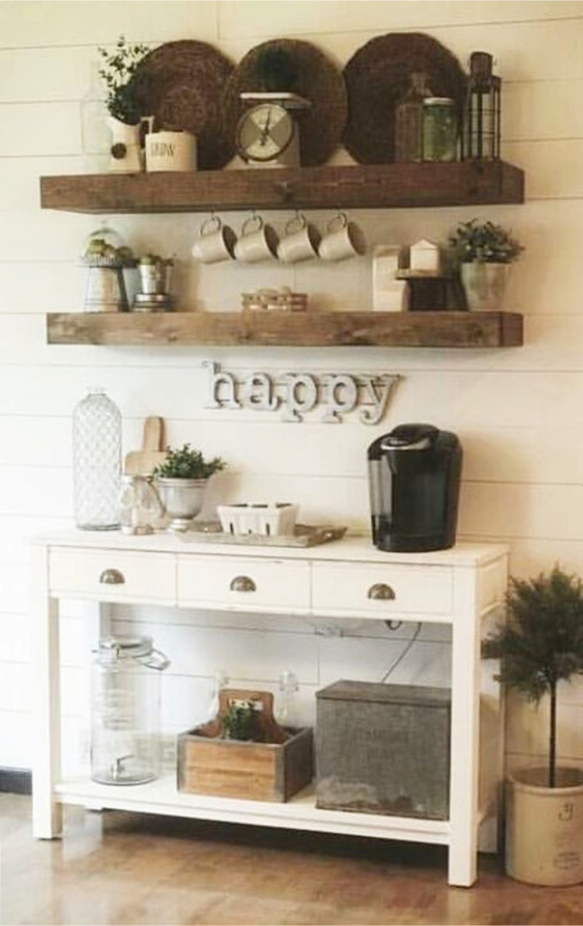 Coffee Area Cabinet Ideas Cute For A Farmhouse Style Kitchen Or Dining Room With