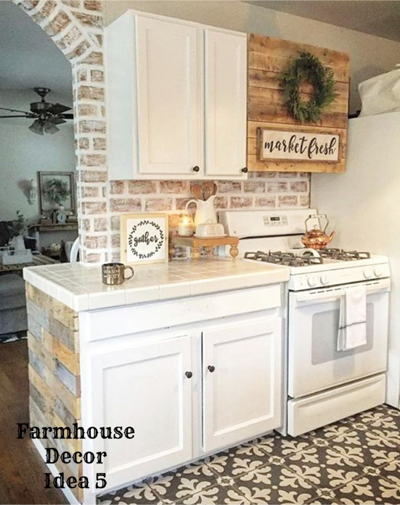 Small Farmhouse Kitchen Decorating Idea Clutter Free Decor Ideas Farmhousedecorating Rusticfarmhouse