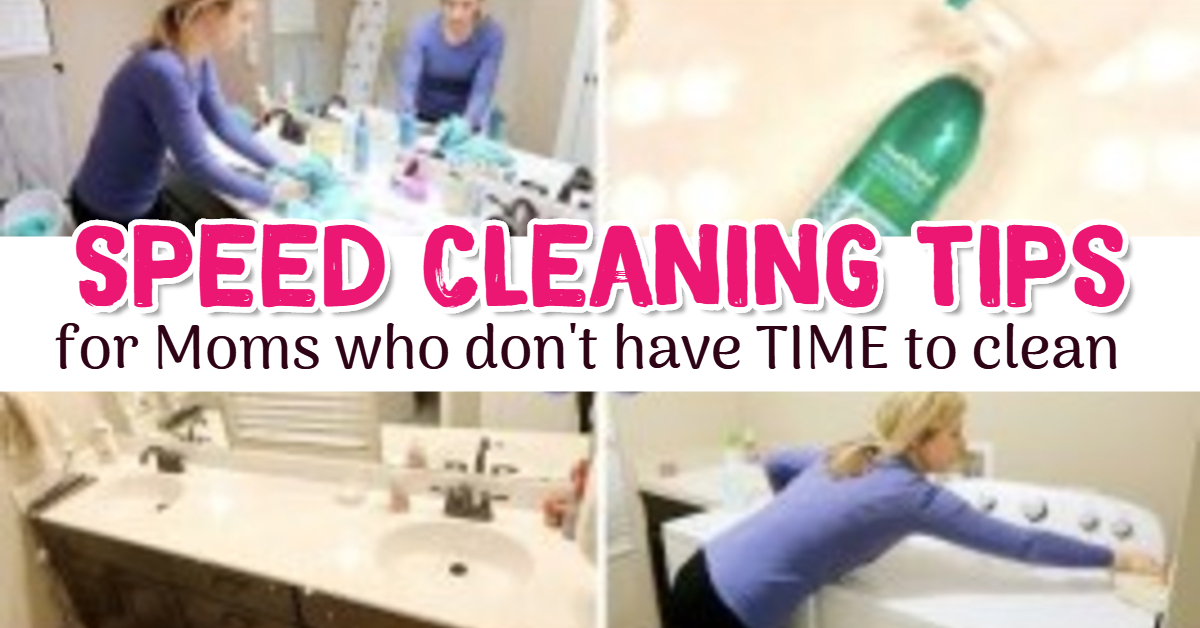 Speed Cleaning Tips for Busy, OVERWHELMED and Tired Moms who don't have TIME to clean and organize their homes #gettingorganized #momhacks #lifehacks
