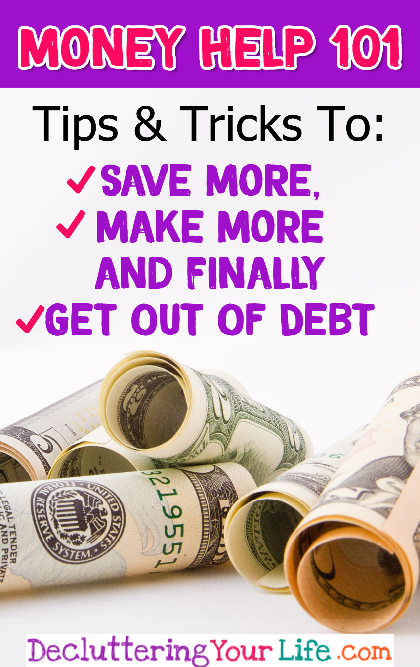 Money Help for Women and Busy Moms - tips to spend less, save more, MAKE more and finally get out of debt to stop living paycheck to paycheck #makemoney #momhacks #budgetinghelp