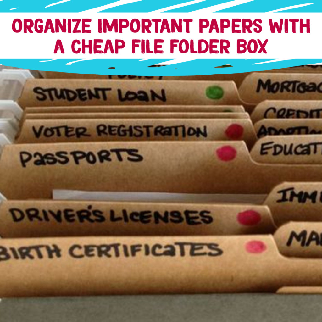 Desk Organization and Home Office Organization ideas - create a filing system to keep important papers safe and organized