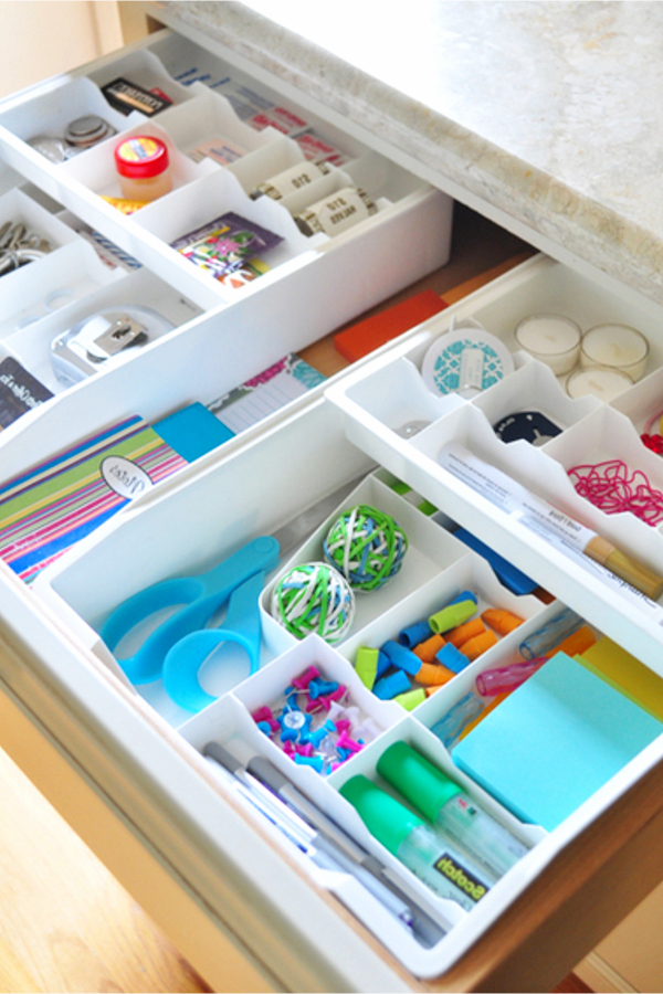 Junk drawer or utility drawer organization tips - a place for everything and everything in its place