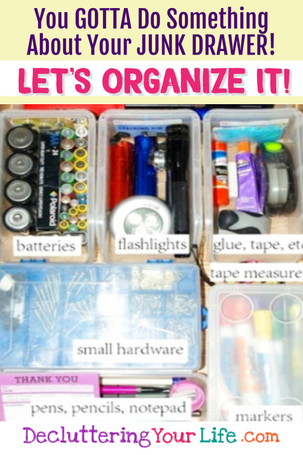 How to organize your junk drawer - DIY organization tips, hacks and ideas