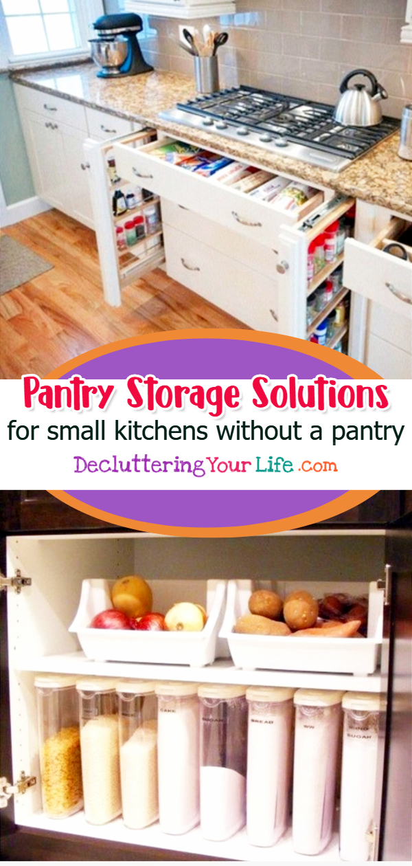 Pantry Storage Solutions for Small Kitchens without a Pantry - Pantry Alternatives and No Pantry Organization Ideas  - Pantry cabinets and cupboards and other awesome  pantry storage solutions