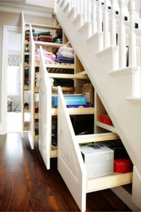 Under stair storage ideas - drawers and more storage under stairs