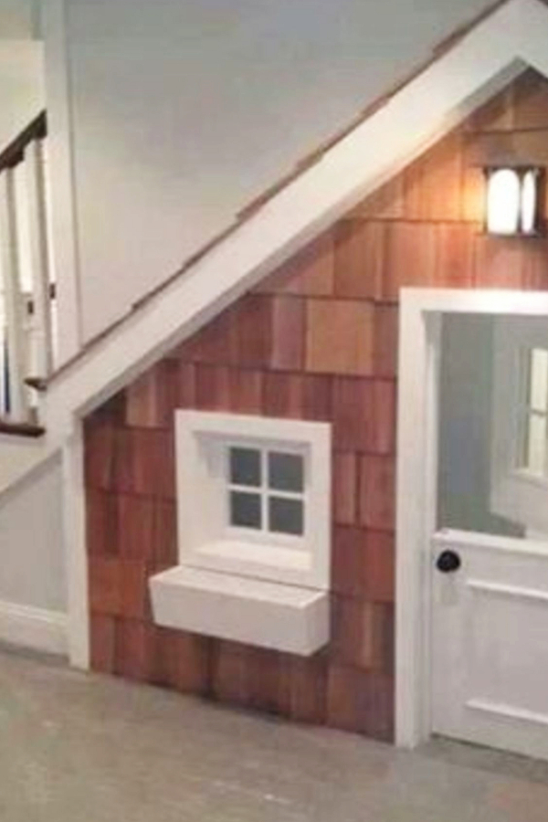 Under stair storage ideas - child's playroom underneath the stairs