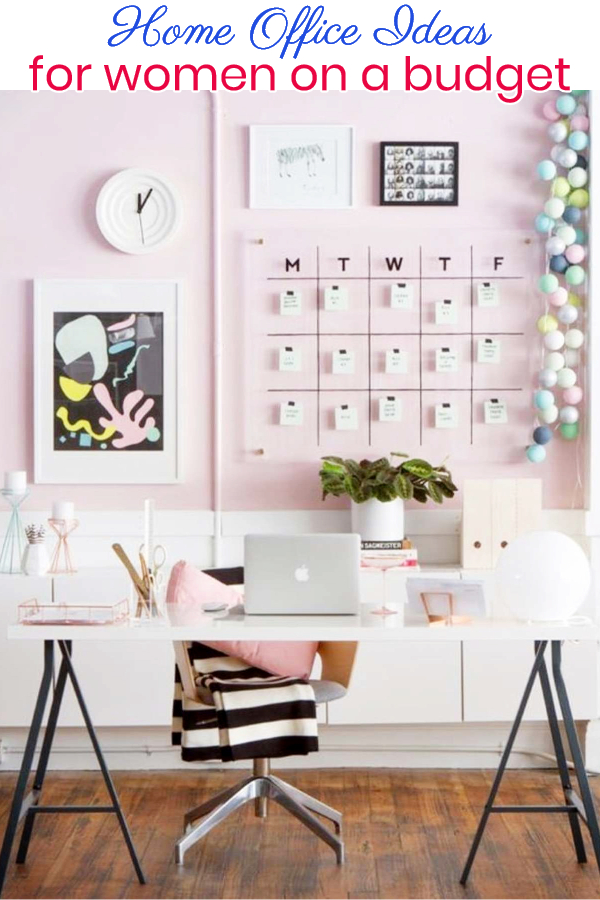 home office ideas for women on a budget • {pictures & easy diy ideas}