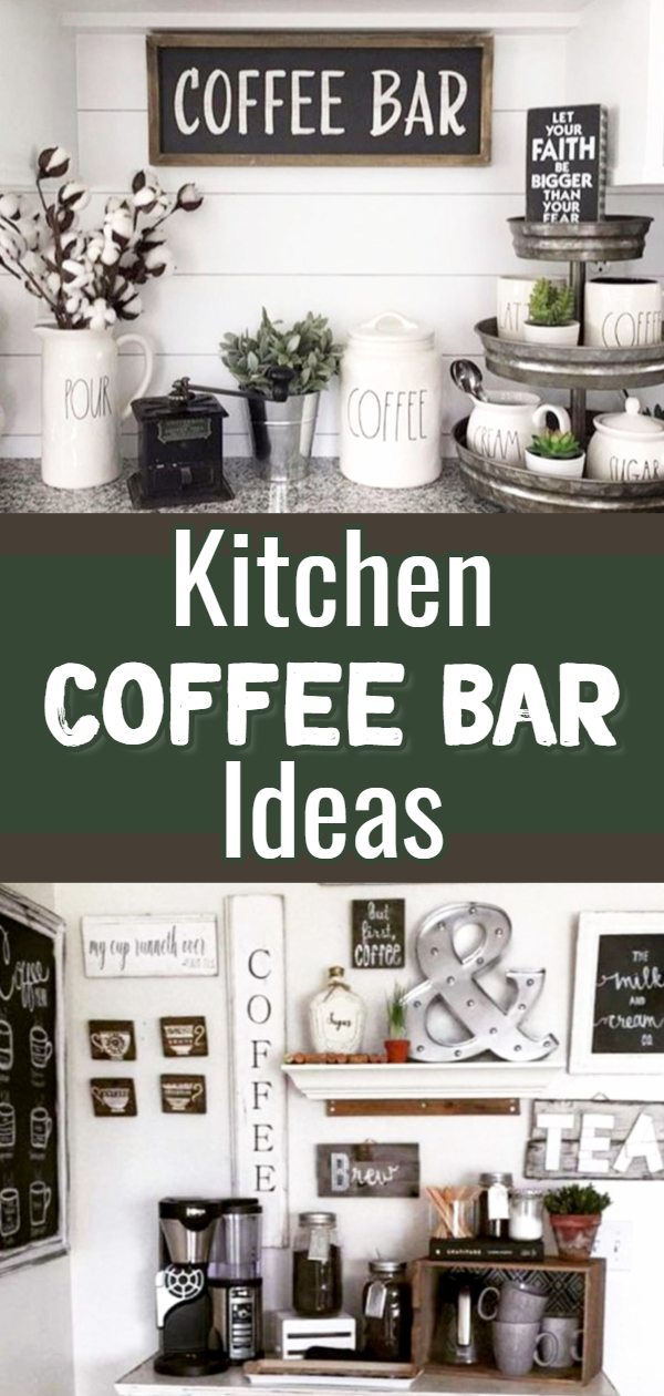 Coffee Bar Ideas – Stunning Farmhouse Style Coffee Bars and Beverage Stations for Small Spaces and Tiny Kitchens - DIY Coffee Station Ideas with Farmhouse Style