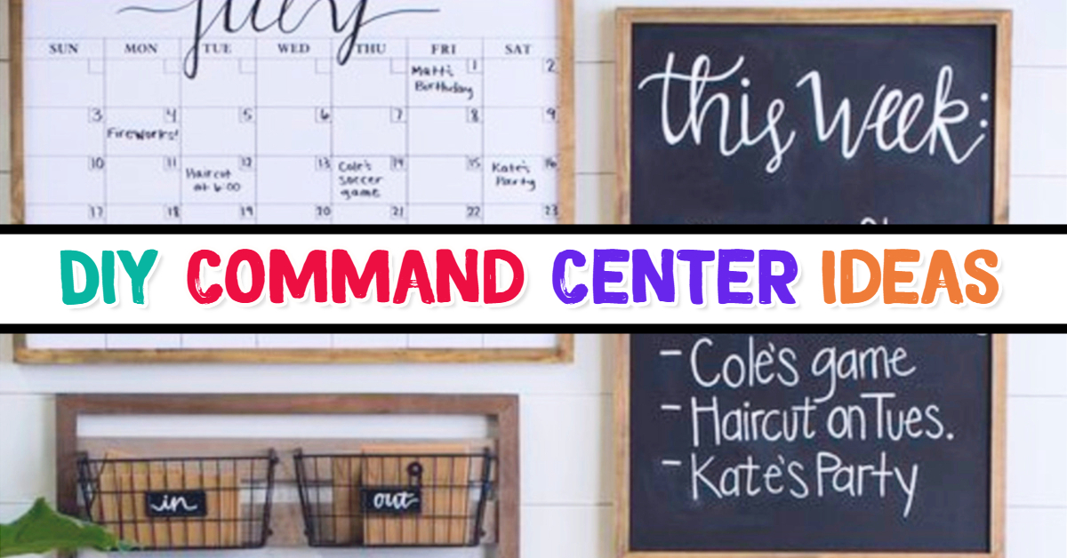 Command Center ideas - Easy DIY Family Command Center Ideas for Decluttering Your Life