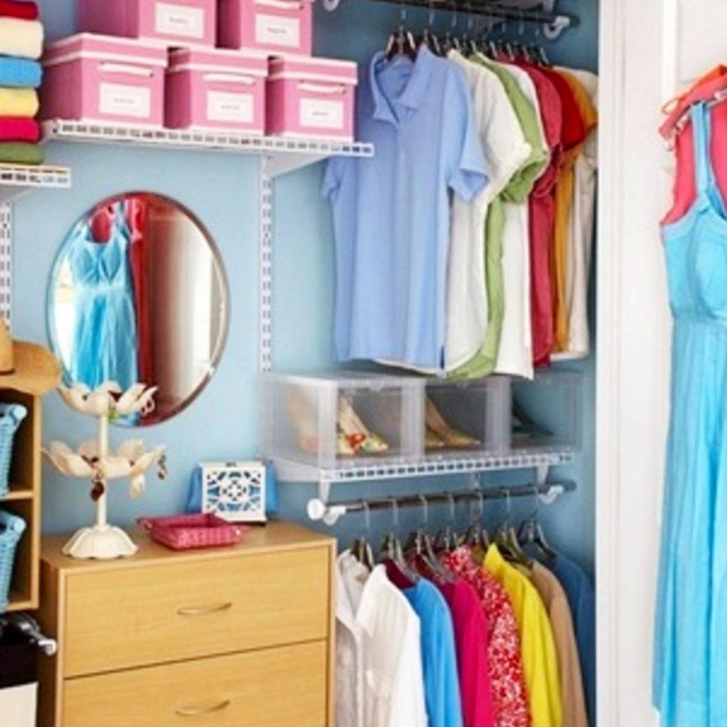 Dorm Closet Ideas - Space Saving Dorm Room Closet Organization Ideas